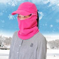 男女冬季抓绒帽秋冬护耳帽保暖口罩帽骑车帽子户外防风帽冬帽