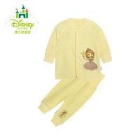 【99元3件】迪士尼Disney 宝宝服饰前开扣上衣婴儿童装内衣套装153T631