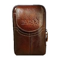 时尚手机包牛皮腰包男穿皮带竖款4.7寸5.5寸多功能零钱包挂扣皮套