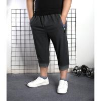 夏季薄款大码男装七分裤宽松短裤加肥加大男运动7分裤肥胖人