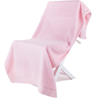 [当当自营]三利 A类加厚长绒棉 缎边大浴巾 桃粉色 纯棉吸水 柔软舒适 带挂绳 婴儿可用