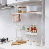 伸缩多层收纳架橱柜顶天立地置物架厨房用品厨具挂架免打孔调料架