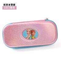 小学生笔袋女冰雪奇缘可爱铅笔盒韩版简约大容量笔袋 30粉色