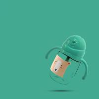 儿童水杯幼儿园6-18个月吸管杯宝宝学饮杯