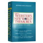 韦氏新世界英语同义词词典 英文原版 Webster's New World Thesaurus 英文版美语字典 英语学