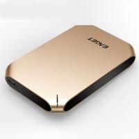移动硬盘 500g移动硬盘全盘硬件加密薄防震 移动硬盘500g 金色 官方标配