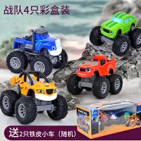 旋风战车队飚车速汽机器人宝宝救援巴士怪兽卡车越野男孩儿童玩具