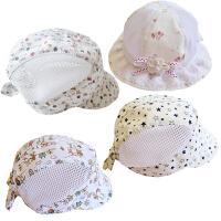 男女童帽子宝宝婴儿白色棒球帽全棉夏季遮阳凉帽网眼帽