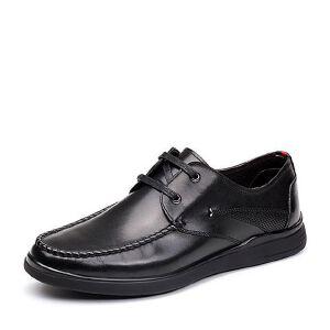 Teenmix/天美意2018春专柜同款牛皮商务风系带鞋男单鞋2ET01AM8