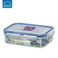 乐扣乐扣保鲜盒塑料微波炉饭盒密封盒便携便当盒水果盒 长方形【360ml】