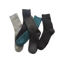 袜子男士中筒棉袜透气男袜秋冬季纯色休闲学生袜潮 均码