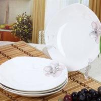 [当当自营]SKYTOP斯凯绨 陶瓷高档骨瓷餐具 金百合8英寸方汤盘(4个装)