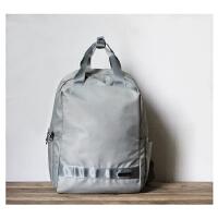 防水尼龙双肩包女包旅行学生收纳包商务书包妈咪包15.6寸电脑背包 灰色大号 15.6寸普通电脑