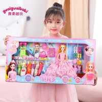 换装乖乖芭比洋娃娃玩具套装大号女孩仿真美人鱼公主超大梦想豪宅