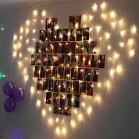 萌味 彩灯 LED爱心形彩灯闪灯串灯婚庆婚房布置创意生日惊喜浪漫求婚装饰灯结婚求爱表白彩灯串