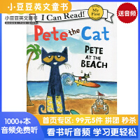 英文绘本 原版进口 Pete the Cat: Pete at the Beach I Can Read
