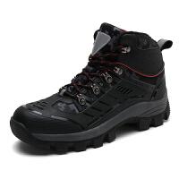 雪地靴户外男士加绒保暖冬季真皮马丁短靴子防水高帮加厚东北棉鞋