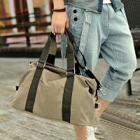 男士帆布包大容量旅行包袋休闲斜挎手提包韩版潮男包简约