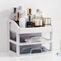 泰蜜熊妆品收纳盒防尘桌面抽屉式家用化妆盒梳妆台放护肤品