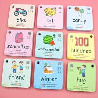 英语单词卡片幼儿启蒙小学生英文字母儿童宝宝早教点读笔有声闪卡