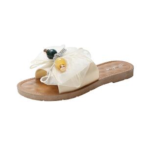 WARORWAR新品YM62-C-1秋冬欧美平底鞋舒适女士毛拖鞋