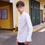 【1件2.5折到手价:34.8】美特斯邦威衬衫男长袖都市百搭春装新款白衬衫韩版潮商场款