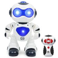 电动音乐跳舞机器人玩具 遥控智能儿童太空机器人模型 颜色随机