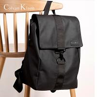 CK双肩包男时尚潮流背包大学生书包旅行包新品休闲简约牛津布