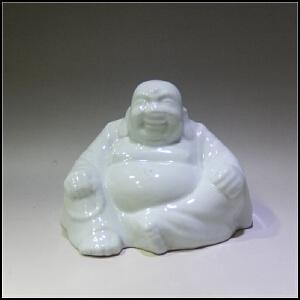 二十世纪80年代  白釉瓷塑弥勒造像