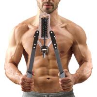 臂力器可调节40kg健身器材家用练臂肌胸肌臂力棒50kg30公斤扩胸器