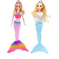 美人鱼娃娃 美人鱼玩具 洋娃娃公主女孩玩具音乐发光过家家