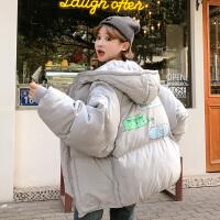 冬季新款韩版宽松bf棉袄卡通原宿加厚学生女ins棉衣外套