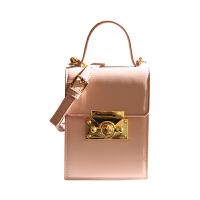 LOSEA 单肩小方包包女2018新款锁扣包粉色斜挎包欧美女包手提小包SN5683