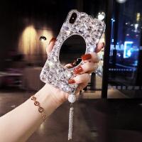 oppo手机壳带钻女plus奢华水钻补妆镜子r9s全包软壳A7X潮