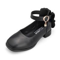 女童皮鞋2018夏季新款韩版潮儿童黑色单鞋小女孩高跟公主鞋中大童