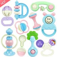 ?手摇铃婴儿牙胶玩具宝宝新生儿男女三四五个小孩1岁0-3-6-12月半