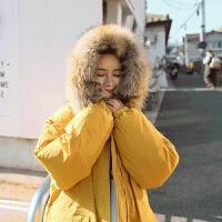 冬季外套加厚韩版学生宽松中长款过膝棉衣毛领棉袄女新款 S (80-105斤)
