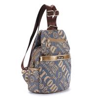 双肩包女包双肩布包韩版新款潮流时尚字母帆布女包背包旅行包小包