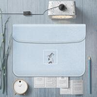 简约文艺苹果笔记本内胆包MACBOOK保护套12 13 15寸air pro电脑包 15寸 pro 蓝兔 + 电源包