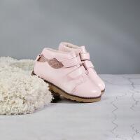 女童靴子短靴2018冬季宝宝马丁靴儿童公主加绒棉靴1-3-8岁