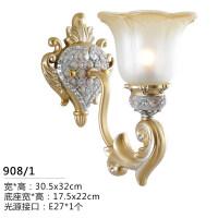 欧式壁灯卧室床头灯美式创意水晶简欧过道楼梯客厅背景墙墙灯