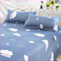 男女被单床单裸睡丝滑一米2.0三件套室内单子粉色灰色2.2午睡