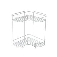 双层转角置物架 浴室厨房用品整理架 落地式三脚架厨房收纳架