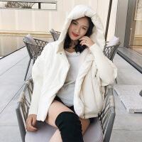 №【2019新款】冬天美女穿的连帽斗篷蝙蝠袖小款面包茧型羽绒服女短款2018新款小个子韩版新潮