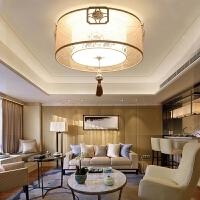 新中式led吸顶灯复古客厅灯现代简约卧室书房灯圆形灯具 MX103