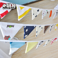 宠物帐篷简约可爱小彩旗 三角串旗吊旗 圣诞派对布置儿童房装饰 布艺彩旗
