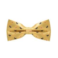 男士韩式英伦蝴蝶结黄色小狗领结男士休闲衬衫黄色小狗领结