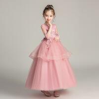 夏季女童公主裙蓬蓬纱裙子大童夏装儿童礼服长裙女孩表演出连衣裙