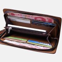 钱包长款单拉链时尚多卡位牛皮休闲手包商务手机包真皮包