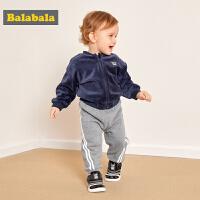 巴拉巴拉宝宝冬装男新款婴儿裤子男童长裤儿童打底裤运动裤女